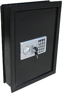 Digital Electronic Flat Recessed Wall Hidden Safe Security Box Jewelry Gun Cash (Black)