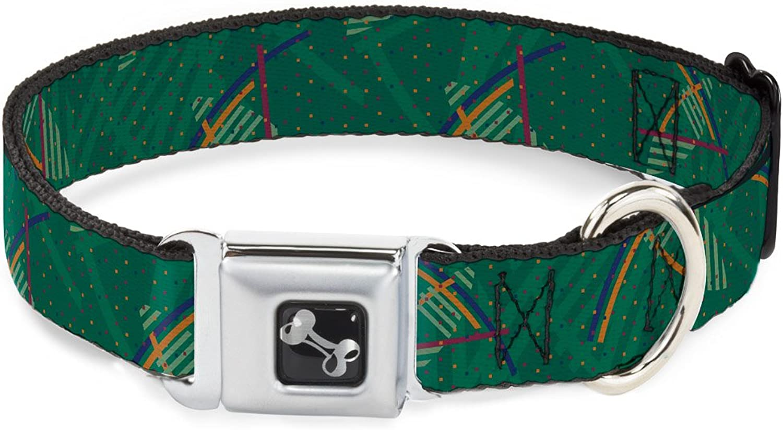 BuckleDown DCW34295S Dog Collar Seatbelt Buckle, PDX Airport Carpet New, 1  X 915