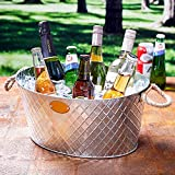 Oval Drinks Pail with Rope Handles - Party Tub, Beer Cooler, Drinks Cooler, Wine Bucket, Drinks Tub