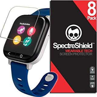 Spectre Shield (8 Pack) Screen Protector for Verizon GizmoWatch Accessory Verizon GizmoWatch Case Friendly Full Coverage Clear Film