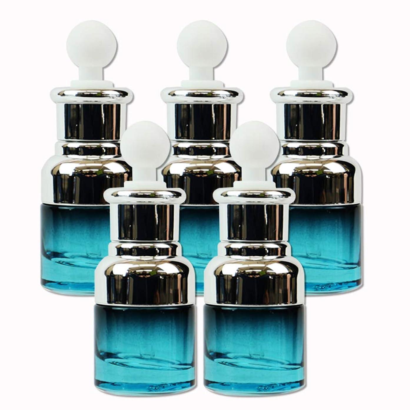 教意志寄稿者edog ガラス製 遮光ボトル 5本セット スポイト式 20ml 香水 エッセンシャルオイル アロマ