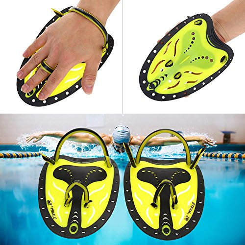 Zyyini Professionale Swim Training Paddle Palette a Mano Power Paddles Nuoto Training Aid Large Flat Paddles Attrezzatura Subacquea per Uomo Donna Bambini(# 2)