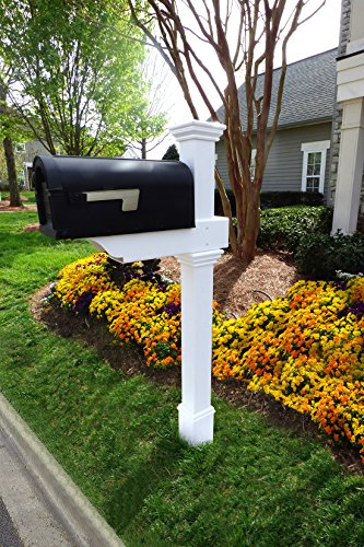 Zippity Outdoor Products ZP19013 Classica Mailbox Post, White