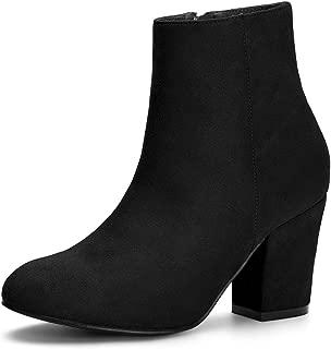 Women's Christmas Side Zip Chunky Heel Ankle Boots