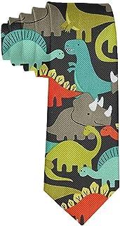 Men's Cute Dinosaur Neckties Slim Novelty Neck Ties-Gift