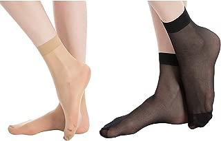 MANZI 12 Pairs Women's Ankle High Sheer Socks