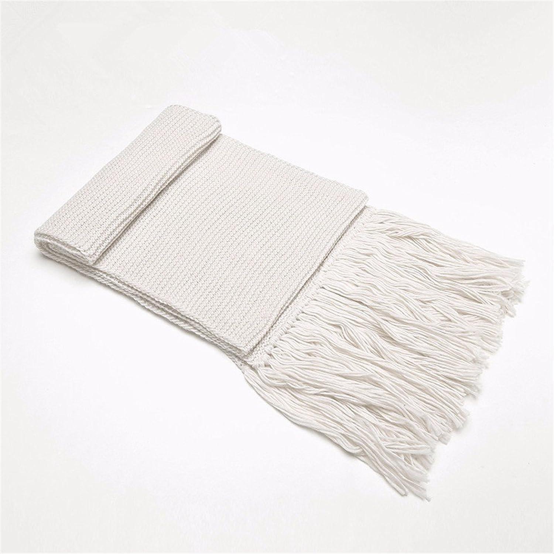 DIDIDD Scarfladies winter wool scarf knitted shawls thick tassels