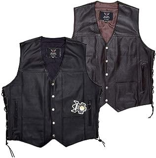 JAYEFO Leather Vest (4XL, Black)