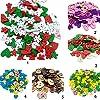 Colori misto Dipinte Bottoni Di Legno Fai Da Te Mestiere Scrapbooking Per Cucito E Natale Decorazione #3