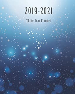2019-2021 Three Year Planner: Blue Light Cover, Monthly Calendar 36 Months Calendar Agenda Planner with Holiday 8