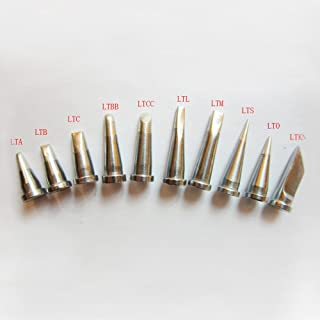 Quality Replacement Tip Set 10pcs for Weller WD1000,WS81,WSP80,WP80,PE75 LT Tip Series