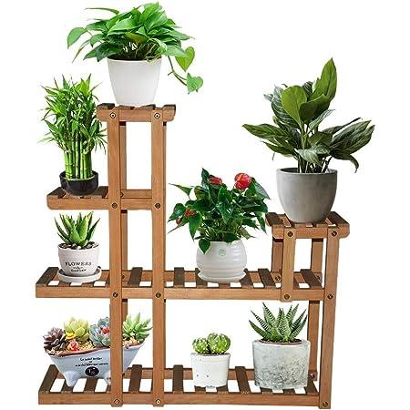 2//3//4 Tier Flower Pot Plant Stand Rack Wood Shelf Garden Indoor Outdoor Pat