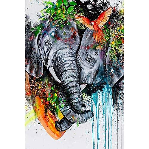 Puzzle 1000 pezzi Leone tigre leopardo pittura arte decorazione animale puzzle 1000 pezzi animali Puzzle educativi intellettuali decompressivi giocattolo divertente gioco per50x75cm(20x30inch)