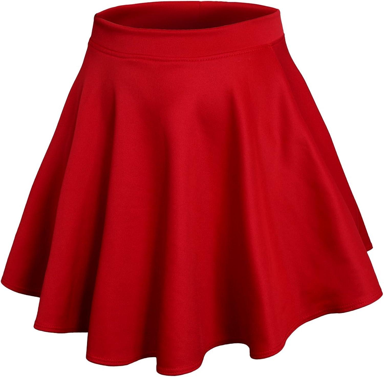 J. LOVNY shopping Womens Casaul Stretchy Basic Skater Flared Made Skirt Omaha Mall i