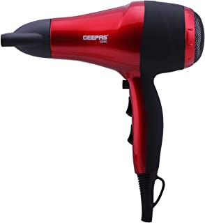 Geepas Ionic Hair Dryer – Professional Conditioning Hair Dryer for Frizz Free Styling with Concentrator - 2-Speed & 3 Temp...