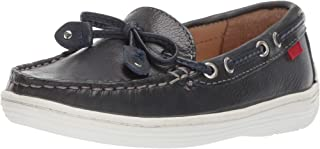 MARC JOSEPH NEW YORK Kids' Leather Boys/Girls Casual Comfort Slip on Moccasin Tie-Bow Loafer Driving Style