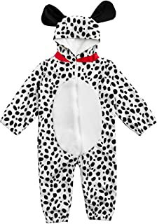 HollyHOME Baby Romper Dalmatian Puppy OneSize for Kids One Piece Dog Sleeping Wear Cosplay Costume for 12-18M