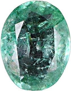 GEMHUB Esmeralda verde natural de 3,95 quilates, color verde natural, certificado de forma ovalada, piedra preciosa suelta...