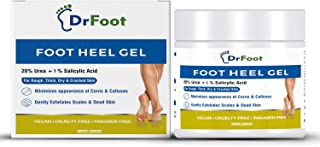 Dr Foot, Foot Heel Gel 20% Urea and 1% Salicylic Acid Moisturizes Callus Cracked Rough Dry Dead Skin and Corns Softens Thi...