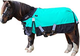 "Derby Originals Windstorm Nordic-Tough 1200D Ripstop Waterproof Winter Heavyweight Mini Horse & Pony Turnout Blankets with 300g Insulation and Two Year Warranty 64"" 80-8024V2-TRQ-64"