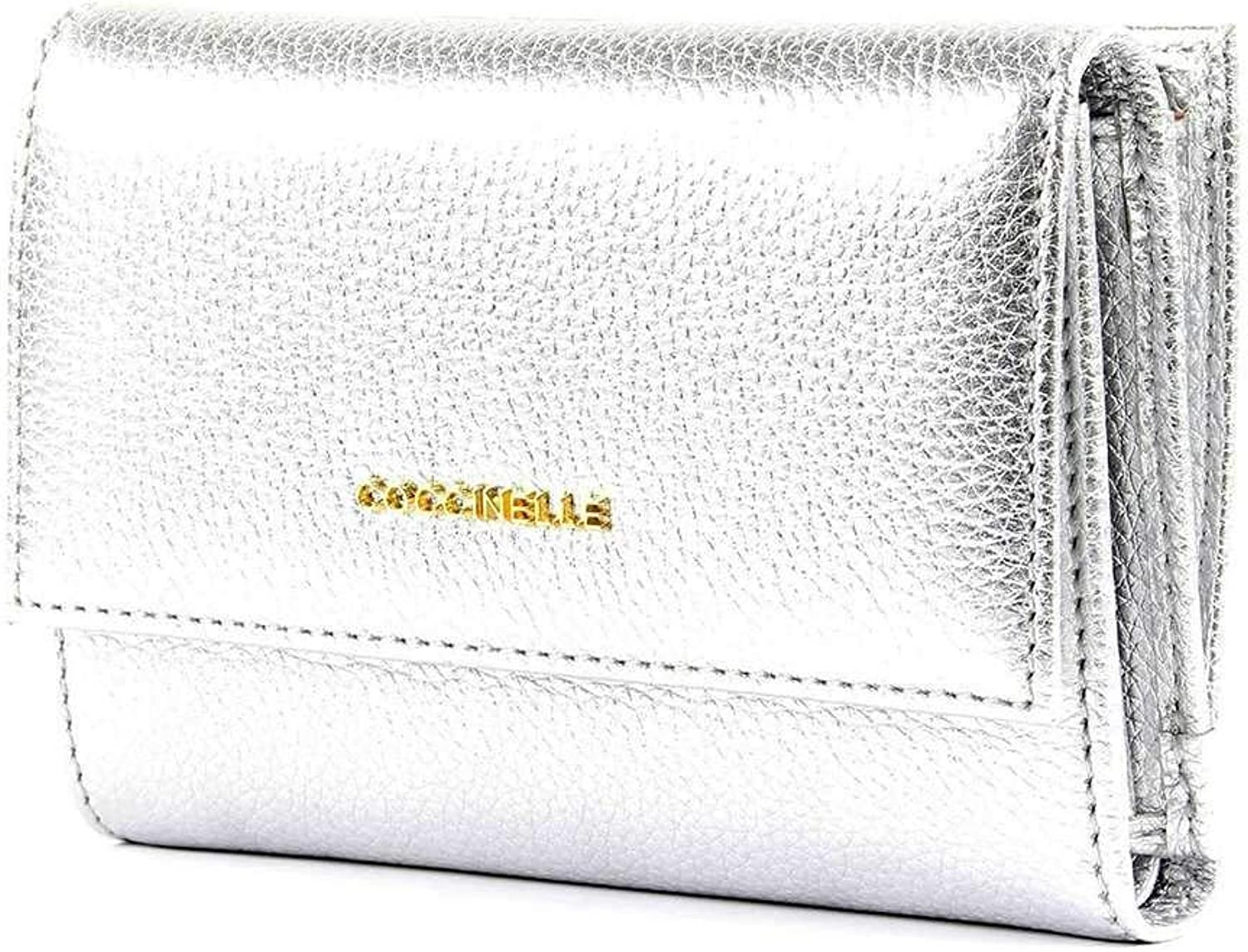 COCCINELLE Wallet METALLIC SOFT Female Leather Silver  E2DW5116601Y69