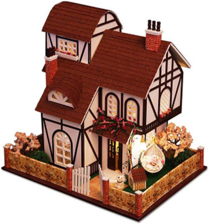 tienda de bajo costo Fancylande Casas de muñecas muñecas muñecas de Madera Model Kits, DIY Cottage decoración de la casa Ville Fleurie, Decorativo para Niños y bebés  descuento de ventas