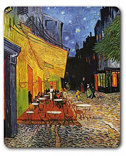 1art1 Vincent Van Gogh - Terrasse des Cafés An Der Place Du Forum In Arles Am Abend, 1888 Mauspad 23 x 19 cm