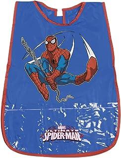 Delantal Infantil Marvel Ultimate Spiderman - Bata Escolar Impermeable para Niño con Bolsillo delantero con el Oficial de Spider-Man - para mantener la ropa limpia y seca - 3-5 Años - Rojo y Azul