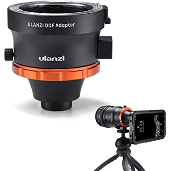 ULANZI DOF Adapter with Sony E Mount for iPhone Samsung Google etc, Turn Your Smartphone into a Real Camera, Fits Full Frame Manual Lens