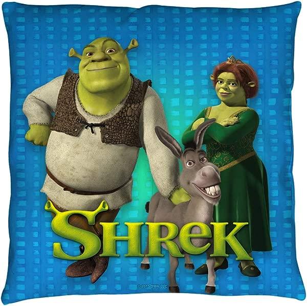 2Bhip Shrek Funny Animated Cartoon Movie DreamWorks Throw Pillow