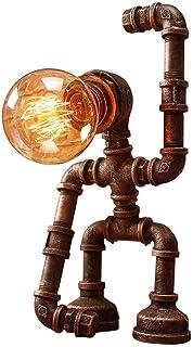 GH-YS Eisen Lampe Industrie Retro Wind Tischlampe American RetroTable Ligh Bar Roboter Wasserrohr Lampe Schreibtisch Lampe...