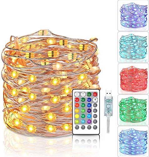 Tesyker Fairy Lights Led String Lights 33 Ft 100 LEDs String Lights for Bedroom Color Changing product image