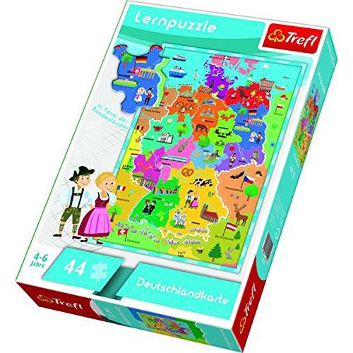 Trefl 15512 - Lern-Puzzle Deutschland Karte 44 Teile