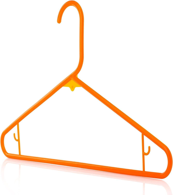 HANGERWORLD Pack of Superlatite 20 2021 spring and summer new Orange Coat Clothes Garmen Plastic 16inch