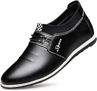[サニーサニー] メンズ 革靴 カジュアルシューズ シークレット 6cm身長UP おしゃれ お兄 インヒール かっこいい 柔らかい 紳士靴 防水 快適 歩きやすい 履き心地良い 防滑 コンフォート ブラック ブラウン 23.5-26.5cm
