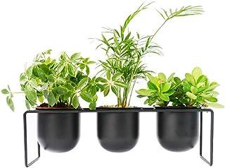 Multilayer Design Flower Holder Flower Racks Iron Metal Desktop Standing Wall Mounted Shelf For 3 Plant Flower Pots Holder...