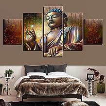YBSWLH 5 Piezas De Pintura 200X100Cm / 78.8X39.4 Marco HD Impresión De Imágenes Lienzo Arte De La Pared Sala De Estar Moderna 5 Piezas Mueca Abstracta Mujer Decoración del Hogar Pictórica