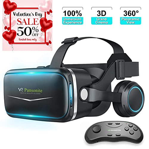 1a19f437deee Pansonite Vr Headset with Remote Controller New Version