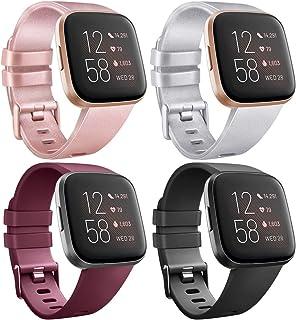 AK Compatibel met Fitbit Versa/Fitbit Versa 2 armband, klassieke sport, verstelbare reservearmband voor Fitbit Versa/Fitbi...