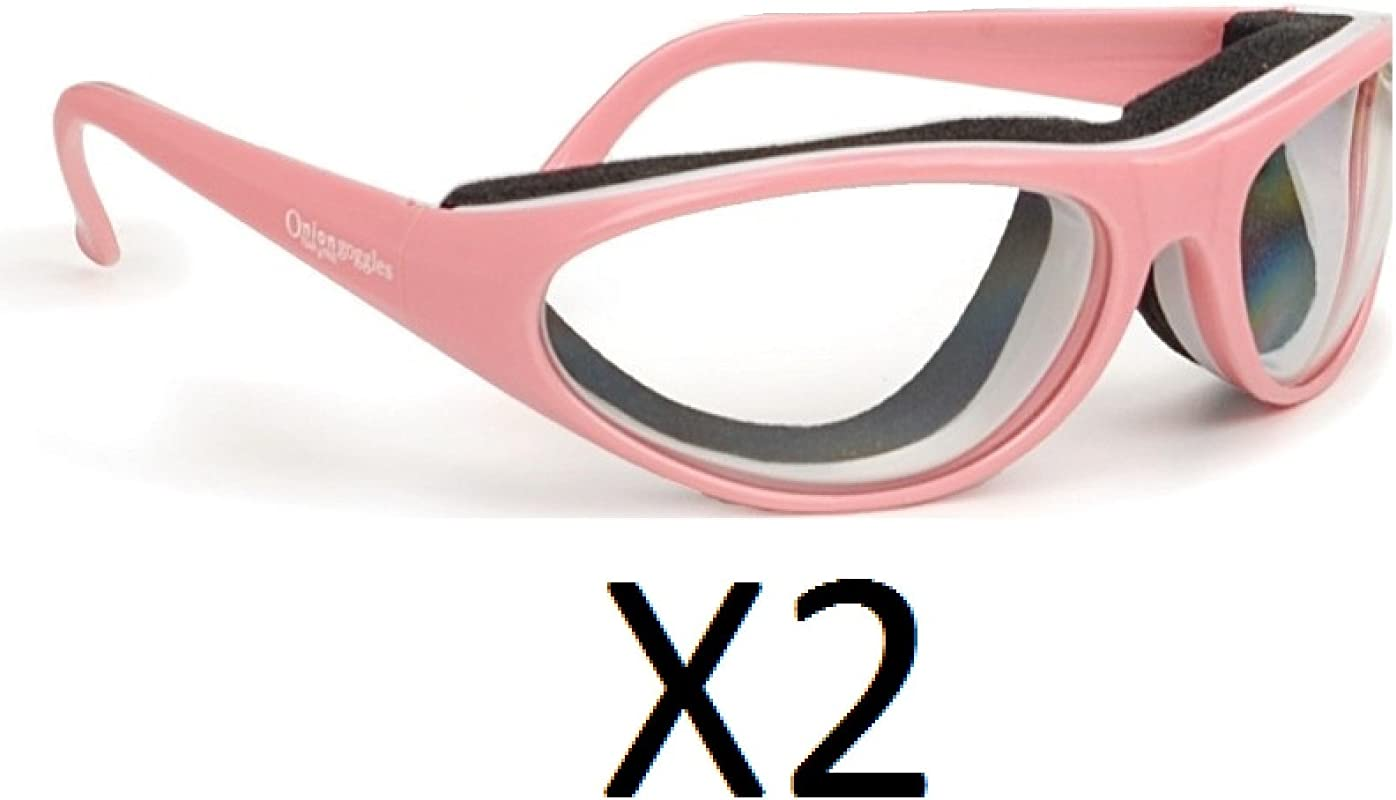 RSVP Onion Goggles W Case Tear Free Anti Fog Cutting Grilling PINK 2 Pack