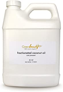 Organic FRACTIONATED Coconut Oil Cold Pressed 100% Pure Premium 32 OZ