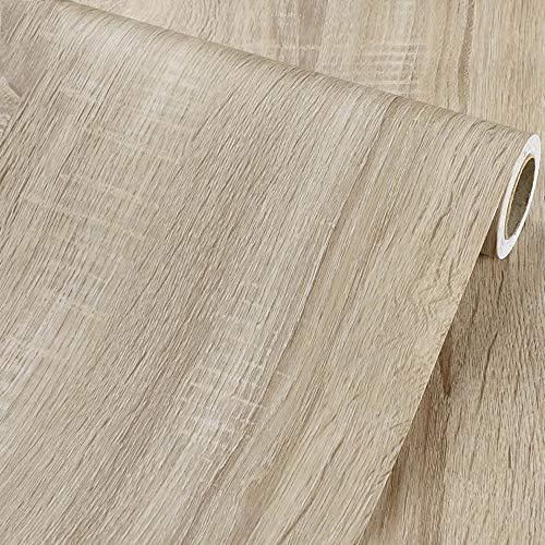 Vinilo autoadhesivo Madera Ligera Papel para Muebles Gabinetes de Cocina Estantes Mesa de Pared Puerta Crafts Decoración 40cmx300cm