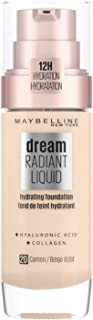 Maybelline New York Dream Radiant Liquid - 20 Cameo - Foundation Geschikt voor de Droge Huid met Hyaluronzuur - 30 ml, 20 ...