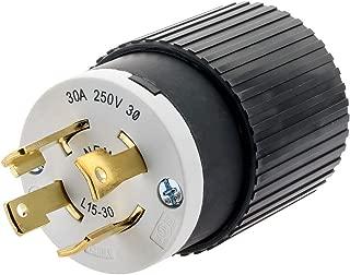 Hubbell T28432 30 Amp 250V NEMA L15-30 3 Phase Twist Lock Plug