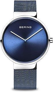 Bering Montre Bracelet Mixte, analogique, à Quartz, en Acier Inoxydable