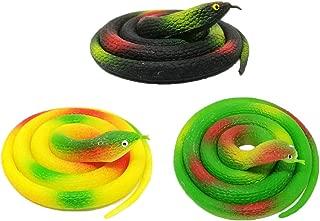 STOBOK 24 Piezas Juguetes de Halloween Serpiente de pl/ástico Reptil Animales estatuilla Modelo Juguete Broma Prop