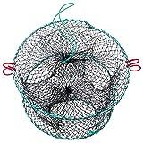 6. FFNIU Crab Trap, Fishing Bait Foldable Net Cast Dip Cage for Crab Fish Minnow Crawdad Shrimp