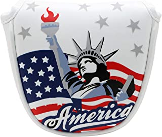 Golf Mallet Putter Head Cover Magnetic Headcover Head Covers Golf Club Accessory USA Statue of Liberty Thick Synthetic Leather for Odyssey 2ball 2 Ball Taylormade Scotty Cameron