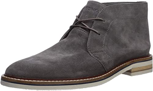 Bostonian Men's Dezmin Mid Chukka Stiefel, grau Waterproof Suede, 10.5 Medium US