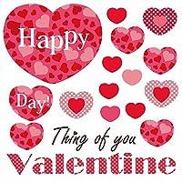 ウォールステッカー バレンタイン 90×90cm シール式 装飾 valentine チョコ love 壁紙 はがせる 剥がせる カッティングシート wall sticker 雑貨 ガラス 窓 DIY 賃貸 wsl-013116-ws